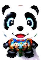 Фольгированный шар-фигурка Панда