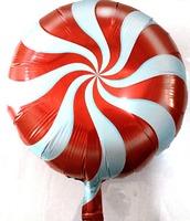 Фольгированый шар круглый Леденец