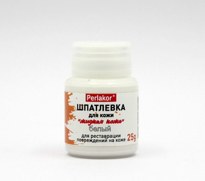 Шпатлевка для кожи (жидкая кожа) 25 г.. Цвет БЕЛЫЙ